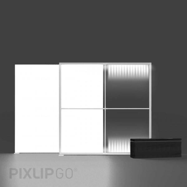 PIXLIP GO | Lightbox 200 cm x 200 cm indoor | beidseitig